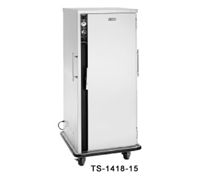 FWE - Food Warming Equipment TS-1418-20 120 Heated Tray Delivery Cart w/ 2-Doors, 20-Pair Universal Slides, Insulated, 120V