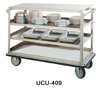 FWE - Food Warming Equipment UC-312 Queen Mary Utility Cart w/ 3-Shelves, 12-Inches Apart, 1600lb Cap., Stainless