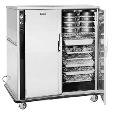 FWE - Food Warming Equipment UHS-BQ-120-XL 120 Mobile Bulk-Food Banquet Server w/ 18-Pair Univer. Slides & 6-Shelves, 120V