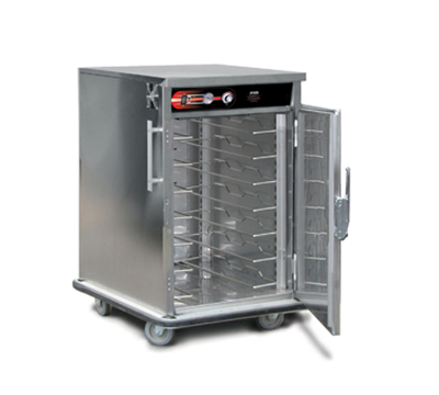 FWE - Food Warming Equipment UHST-7220 Mobile International Heated Server w/ 1-Door, 7-Pair Univer. Tray Slides, 220/1V