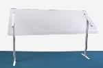 Jule-Art 880-1910 Freestanding Sneezeguard w/ 1-Side, 29.75 x 48 x 15.5-in