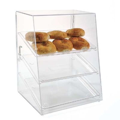 Jule-Art AFC13WD Wide Tray Cabinet w/ (3) 13 x 18-in Trays, Front & Rear Doors