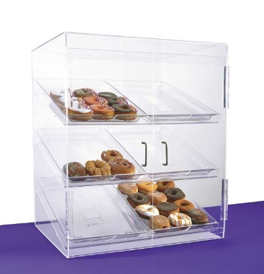 Jule-Art BF6TC Front Opening Bakery Case w/ (6) 13 x 18-in Trays & 2-Hinged Doo