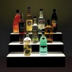 Jule-Art 880-1895 Lighted Bottle Stairs w/ 3-Steps & 21-Bottle Capacity, 24-in Wide