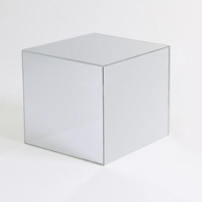 Jule-Art MCM12 Mirrored Cube w/ Open Bottom, 12 x 12 x 12-in