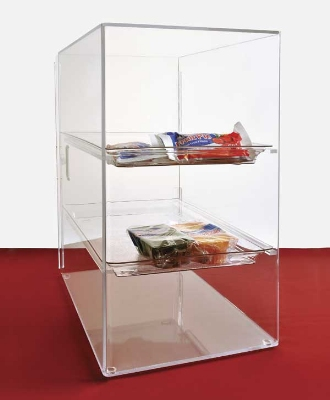 Jule-Art SFC10 Tray Cabinet w/ (3) 10 x 14-in Tray & Straight Shelve, Access Door