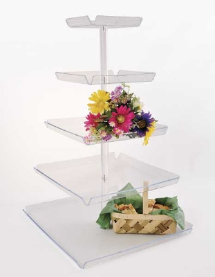 Jule-Art TRAYT4 Tray Tower w/ 4-Tiers & 8-in Spacing, 34 x 18.5 x 18.5-in