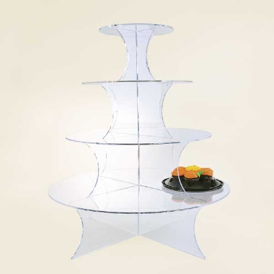 Jule-Art WCR3 Interlocking Wedding Cake Riser w/ 4-Shelves, 21.75-in High