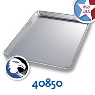 Chicago Metallic 40850 1/2-Size Sheet Pan, Aluminum, Wire In Rim