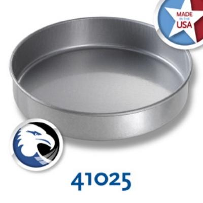 Chicago Metallic 41025 Round Glazed Cake Pan, 10 x 2-in, Aluminized Steel