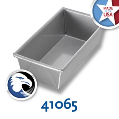 Chicago Metallic 41065 Glazed Individual Bread Pan, 8-in, Alumini