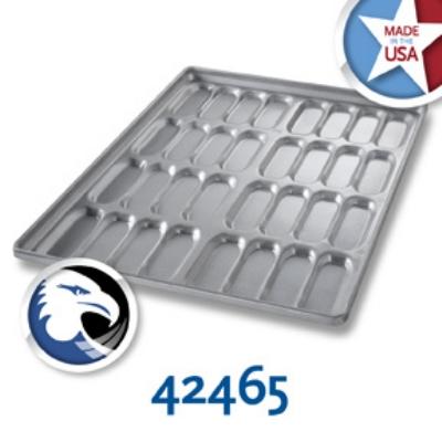 Chicago Metallic 42465 Cluster Hot Dog Bun Pan,