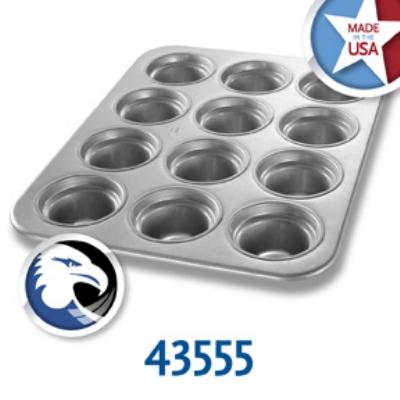 Chicago Metallic 43555 Large Crown Muffin Pan, (12