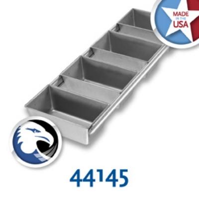 Chicago Metallic 44145 Glazed Bread Pan Set, (4) 6-