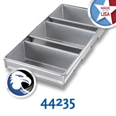 Chicago Metallic 44235 Bread Pan Set, 3-On, Glazed Aluminized Steel