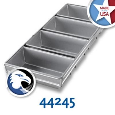 Chicago Metallic 44245 Glazed Bread Pan Set, (4) 9-7/32