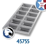 Chicago Metallic 45755 Mini Loaf Pan, Holds (12) 6.4-oz, Aluminized Steel