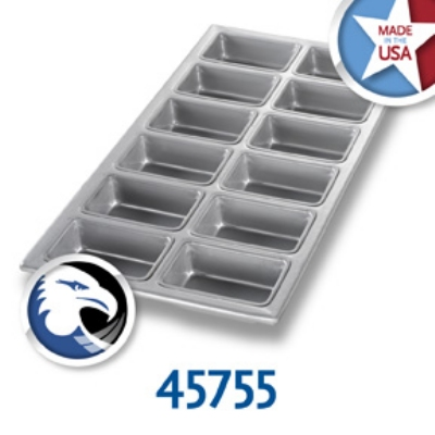 Chicago Metallic 45755 Mini Loaf Pan, Holds (12