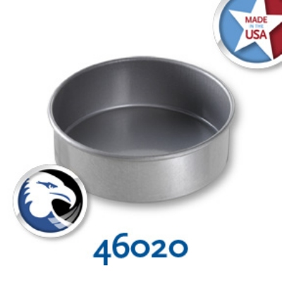 Chicago Metallic 46020 Round Cake Pan, 6 x 2-in, Aluminized Steel