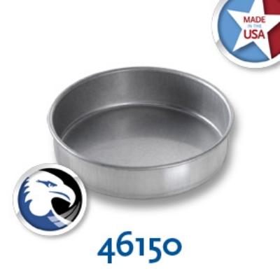Chicago Metallic 46150 Round Cake Pan, 6 x 1.5-in, Aluminized Steel