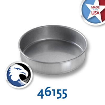 Chicago Metallic 46155 Glazed Cake Pan, 6 x 1.5-in,  Round, Aluminized Ste