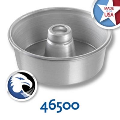 Chicago Metallic 46500 Angel Food Tube Cake Pan, 7.5 x 2.75-in, Seamless, Aluminum