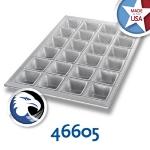 Chicago Metallic 46605 Square Muffin Pan, (24) 4.4-oz, Glazed Aluminized Steel