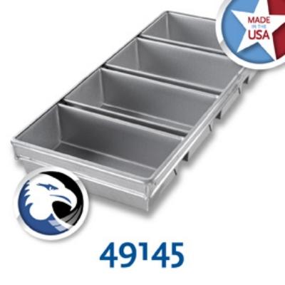 Chicago Metallic 49145 Bread Pan Set 91-4, Holds 4-