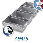Chicago Metallic 49415 Bread Pan Set 91-4L, Holds 4-Loaves, Aluminized Steel