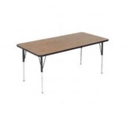 Correll A2448-REC 06 Rectangular Activity Table w/ Oak High Pressure Top, 24 x 48-in