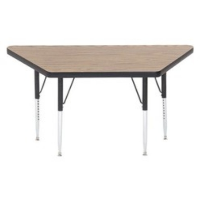 Correll A3060-TRP 06 Trapezoid Activity Table w/ Oak High Pressure Top, 30 x 30 x 6
