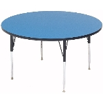Correll A42-RND 37 42-in Round Table w/ 1.25-in High Pressure Top, Blue