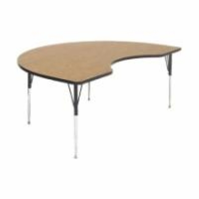 Correll A4896-KID 06 Kidney Activity Table w/ Oak High P
