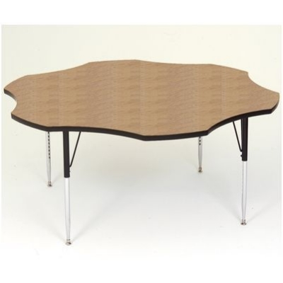 Correll A60-FLR 06 Flower Activity Table w/ Oak High Pressure Top, 60-in Round