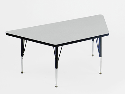 Correll AM3060-TRP 15 Trapezoid Activity Table w/ Melamine Top, 24x48-in, Gray Granite