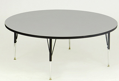 Correll AM60-RND 15 60-in Round Activity Table w/ Melamine Top, Gray Granite