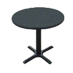 Correll BXT36R 09 36-in Round Bar Cafe Table w/ 1.25-in Pressure Top, 29-in H, Black Granite/Black