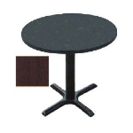 Correll BXT48R 20 48-in Round Bar Cafe Table, 1.25-in Pressure Top, 29-in H, Mahogany/Black