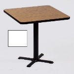 Correll BXT24S 36 24-in Square Bar Cafe Table w/ 1.25-in Pressure Top, 29-in H, White/Black
