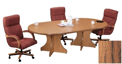 Correll C3672POX 06 Race Track Conference Table w/ 1.87-in High Pressure Top, 36 x 72-in, Oak