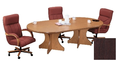 Correll C3672POX 20 Race Track Conference Table w/ 1.87-in High Pressure Top, 36 x 72-in, Mahogany