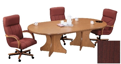 Correll C3672POX 21 Race Track Conference Table w/ 1.87-in High Pressure Top, 36 x 72-in, Cherry