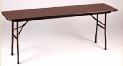 Correll CF1848PX 01 Folding Table w/ .75-in High-Pressure Top, 18 x 48-in, Walnut