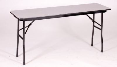 Correll CF1860M 01 Folding Table w/ Walnut Melamine Top, 18 x 60-in