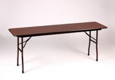 Correll CF1896M 01 Folding Table w/ Walnut Melamine Top, 18 x 96-in