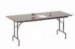 Correll CF2496M 01 Melamine Folding Table w/ 5/8-in High Density Top, 24 x 96-in, Walnut