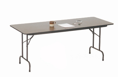 Correll CF1848M 01 Melamine Folding Table w/ 5/8-in High Density Top, 18 x 48-in, Walnut