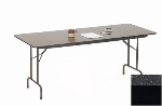 Correll CF2496M 07 Melamine Folding Table w/ 5/8-in High Density Top, 24 x 96-in, Black Granite