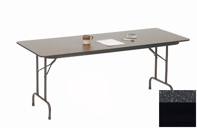 Correll CF2496M 07 Melamine Folding Table w/ 5/8-in High Density Top, 24 x 96-in