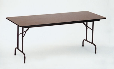 Correll CF3096M 01 Folding Table w/ Walnut Melamine Top, 30 x 96-in
